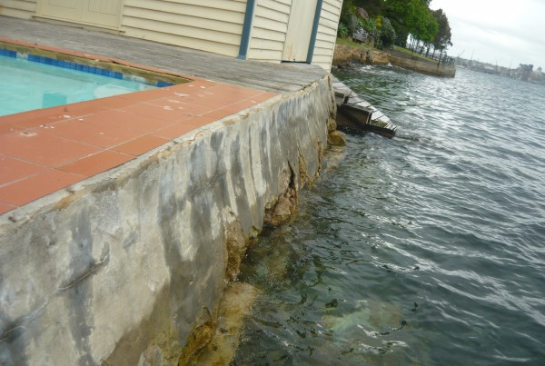 Sea Wall Erosion