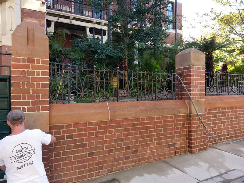 Heritage retaining wall restoration Darlinghurst