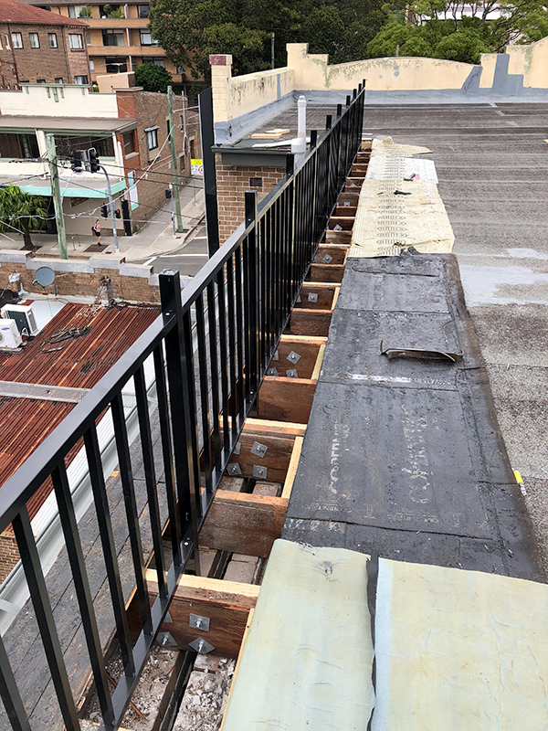 Rooftop balustrade replacement