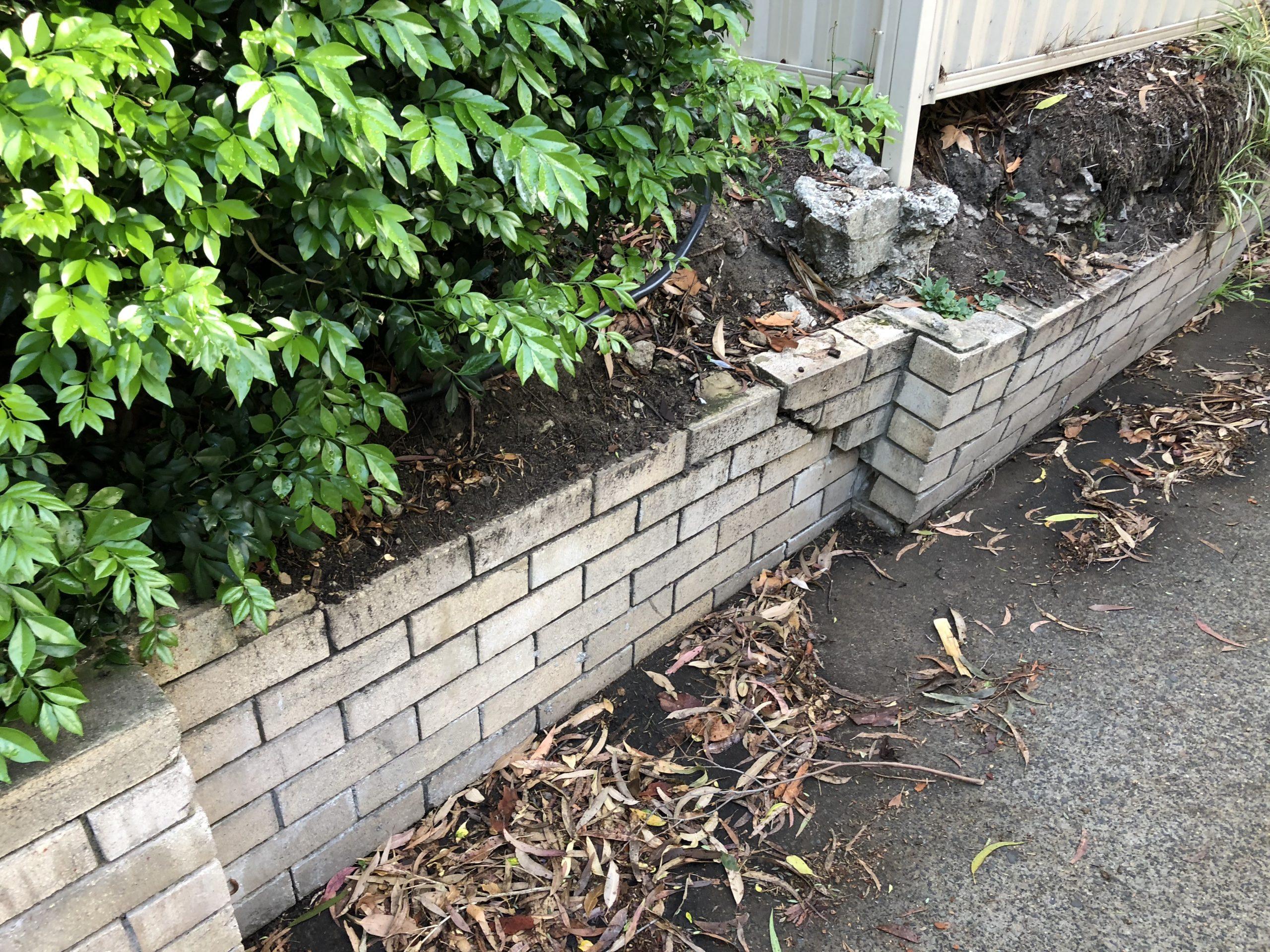 Failing retaining wall, Gerard St, Cremorne NSW
